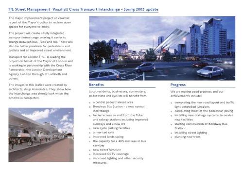 Vauxhall Cross leaflet page 2 on lambethcyclists.og.uk