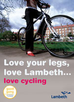 Lambeth Council love your legs poster on lambethcyclists.org.uk