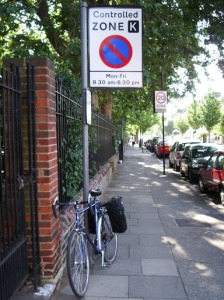 Lambeth controlled parking zone sign on lambethcyclists.org.uk