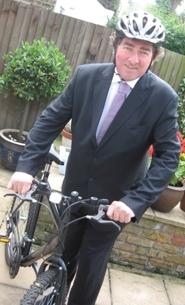 Photo of Councillor John Whelan on lambbethcyclists.org.uk