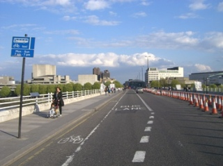 View of Waterloo Bridge on lambethcyclists.org.uk