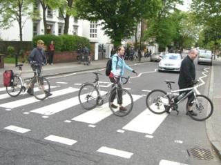 crossing Abbey Road on bike on lambethcyclists.org.uk