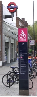 Cycle Superhighway sign on lambethcyclists.org.uk