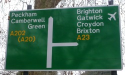 A23 Oval Junction sign