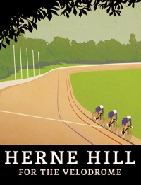 Herne Hill Velodrome poster on lambethcyclists.org.uk