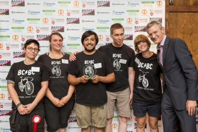 Brixton Cycles staff at the London Cycling Awards 2014