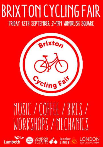 Brixton Cycle Fair flyer on lambethcyclists.org.uk
