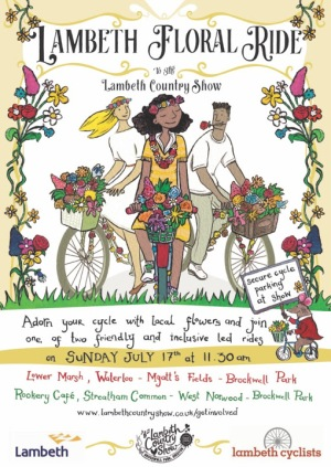 Lambeth floral ride flyer on lambethcyclists.org.uk