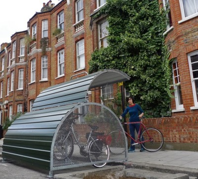 Bike Hangar - photo by Cyclehoop