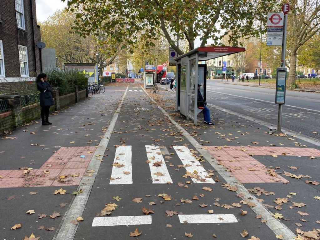 Kennington Rd cycle way